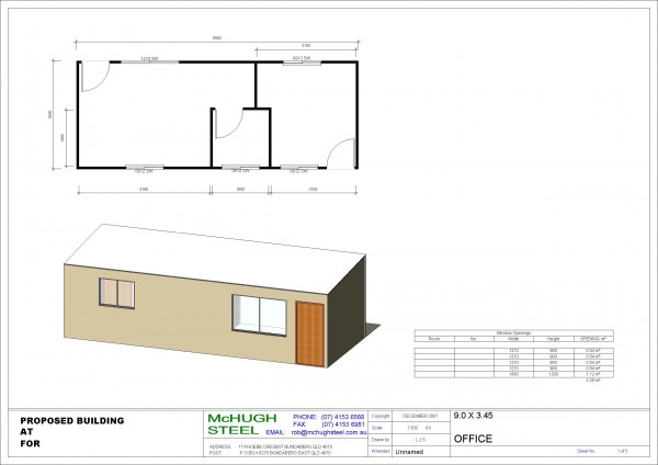 Mchugh steel relocatable buildings for Metal building office floor plans