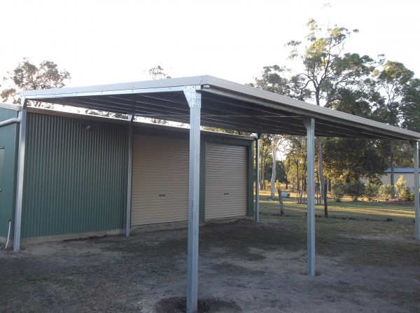 New 6x9x3 Carport Off Set Post Design Branyan
