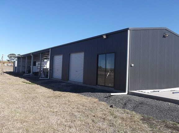 New Enclosed And Open Bay Shed Erected In Bundaberg